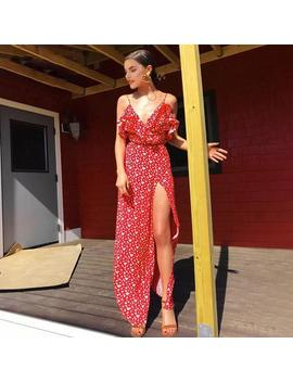 Santorini Maxi Dress   Red by Want My Look