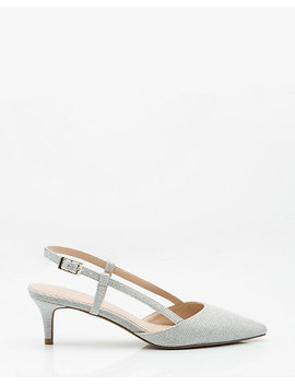 Glitter Pointy Toe Pump by Le Chateau