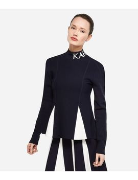 Contrast Panelled Top by Karl Legerfeld