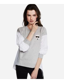 K/Ikonik 2 In 1 Sweatshirt by Karl Legerfeld