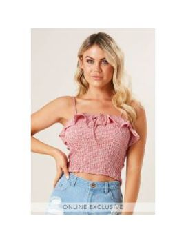 Love Bound Shirred Frill Top by Ally Fashion