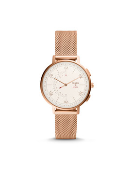 Hybrid Smartwatch   Q Harper Rose Gold Tone Stainless Steel by Fossil