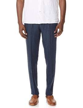 Striped Suffolk Trousers by Club Monaco