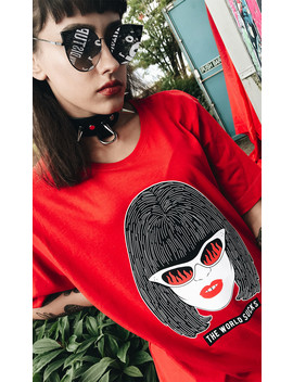 Amy T Shirt Red by Disturbia