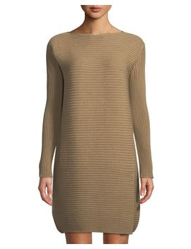 Long Sleeve Pintuck Stitched Dress by Lafayette 148 New York