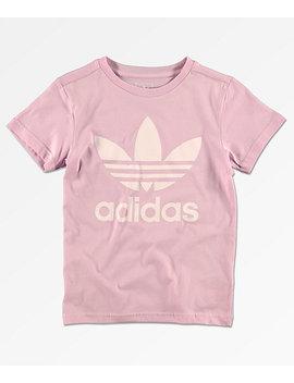 Adidas Boys Trefoil Pink T Shirt by Adidas
