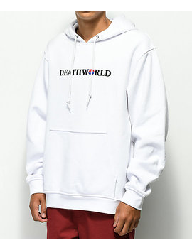 Deathworld Korea White Hoodie by Deathworld