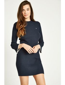 Rusham Fluted Sleeve Knit Dress by Jack Wills