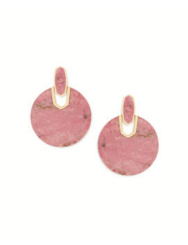 Didi Gold Statement Earrings In Pink Rhodonite by Kendra Scott