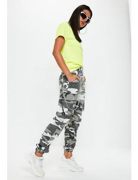 Pantalon Camouflage Gris Petite by Missguided
