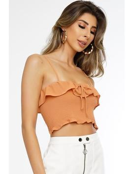 Betty Crop Top   Orange by Want My Look