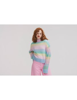 Lazy Oaf Pastel Rainbow Jumper by Lazy Oaf