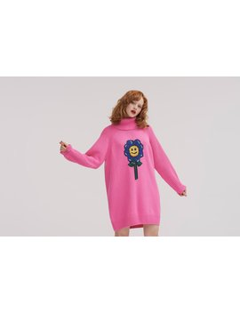 Lazy Oaf Flower Power Sweater Dress by Lazy Oaf