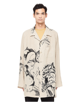Printed Linen Jacket by Yohji Yamamoto