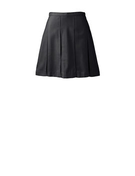 School Uniform Women's Solid Box Pleat Skirt Above Knee by Lands' End