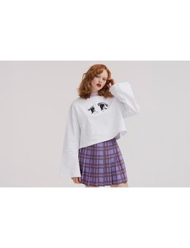 Lazy Oaf Eyes Crop Sweatshirt by Lazy Oaf