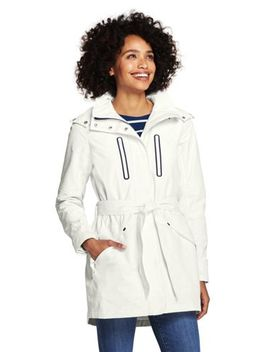 Women's Lightweight Belted Squall Rain Coat by Lands' End