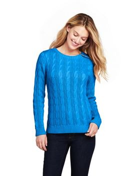 Women's Drifter Cotton Crewneck Sweater by Lands' End