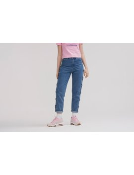 Lazy Oaf Bow Side Jeans by Lazy Oaf