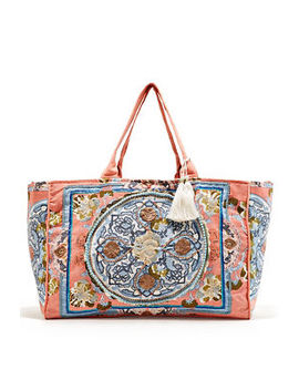 Spring Floral Tote Boho Bag by Boston Proper