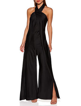 Wide Leg Halter Jumpsuit by Boston Proper