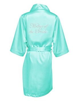 Rhinestone Mother Of The Bride Satin Robe by