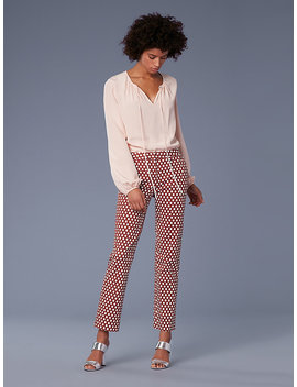 Long Sleeve Keyhole Blouse by Dvf