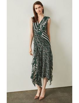 Floral Blooms Asymmetrical Dress by Bcbgmaxazria