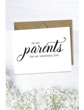 To My Parents Wedding Card by