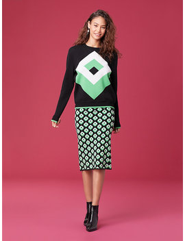 cube-jacquard-pencil-skirt by dvf