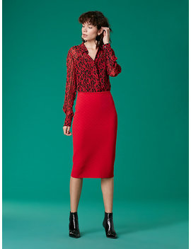 Sweater Pencil Skirt by Dvf