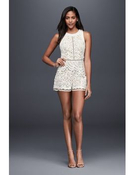 Laser Cut Lace Romper by Adelyn Rae