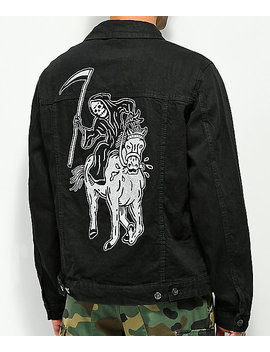 Sketchy Tank Lurking Class Black Denim Jacket by *Lurking Class*