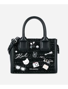 K/Klassik Pins Mini Tote Bag by Karl Legerfeld