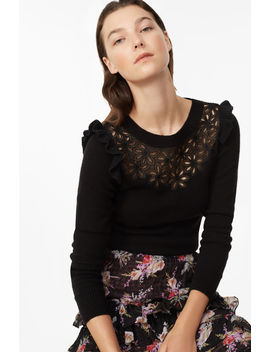 Emilie Embroidered Pullover by Rebecca Taylor