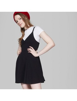 Women's Strappy Knit Skater Dress   Wild Fable™ Black by Shop All Wild Fable™
