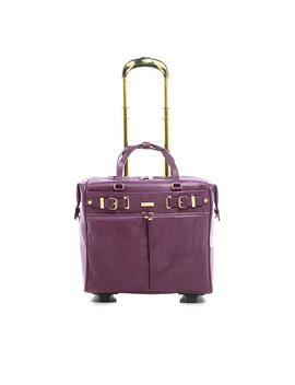 Joy Luxe Leather Lizard Embossed City Collection Wheelie With Rfid by Joy Mangano