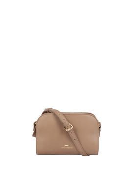Juliette Brown Leather Cross Body Bag by Paul Costelloe