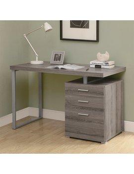 Monarch Specialties Contemporary Dark Taupe Computer Desk by Lowe's