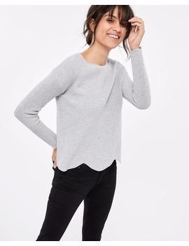 Scallop Hem Cotton Sweater by Reitmans
