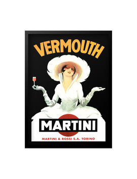 Vermouth Martini Framed Print by Luxe West