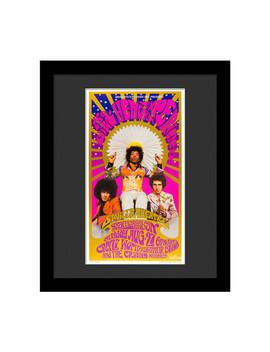 Jimi Hendrix Psychodelic Print by Luxe West