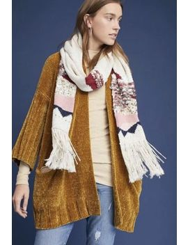 Nwt $128 Anthropologie Moth Chenille Cardigan Oversized Sweater Mustard Small by Anthropologie