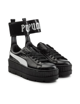 Ankle Strap Leather Creeper Sneakers by Fenty Puma By Rihanna