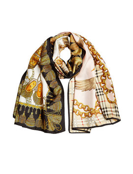 Printed Silk Scarf by Burberry