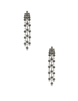 Crystal Chandelier Earrings by Alberta Ferretti