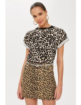 Printed Leopard T Shirt by Topshop