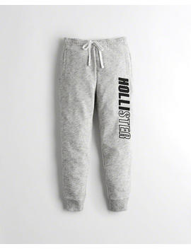 Mid Rise Fleece Joggers by Hollister
