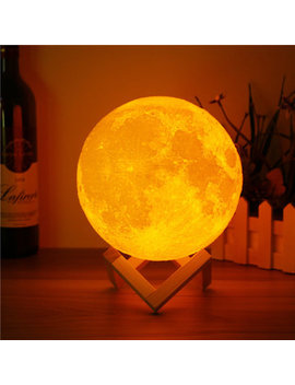 15cm 3 D Magical Two Tone Moon Lamp Usb Charging Luna Led Night Light Touch Sensor Gift by Newchic
