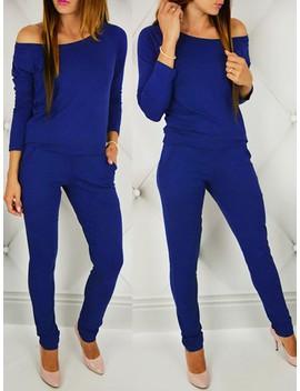 Fashion Sexy Off Shoulder Slim Jumpsuit by Ivrose